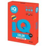 Бумага IQ color, А4, 160 г/м2, 250 л., интенсив кораллово-красная, CO44