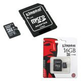 Карта памяти micro SDHC, 16 GB, KINGSTON, UHS-I U1, 45 Мб/сек. (class 10), с адаптером
