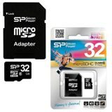 Карта памяти micro SDHC, 32 GB, SILICON POWER, 10 Мб/сек. (class 10), с адаптером, SP032GBSTH010