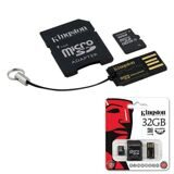 Карта памяти micro SDHC, 32 GB, KINGSTON, 10 Мб/сек. (class 10), два адаптера (SD, USB)