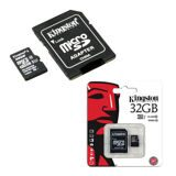 Карта памяти micro SDHC, 32 GB, KINGSTON, UHS-I U1, 45 Мб/сек. (class 10), с адаптером